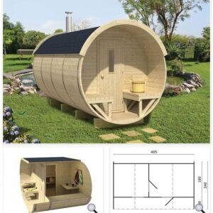 Sauna per esterni art.BR400