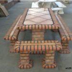 Tavolo + panche da giardino art.ER-Tijolo