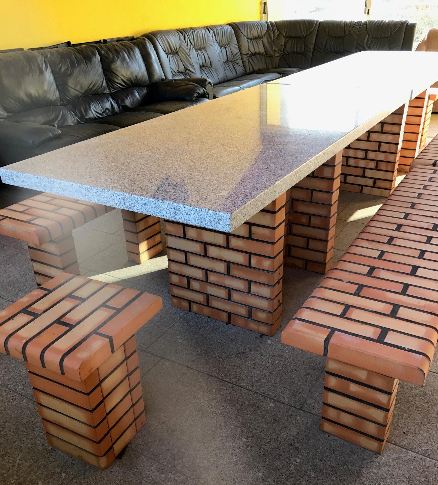 Tavolo + panche da giardino art.PF1