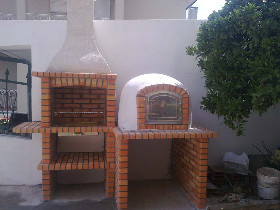 barbecue in muratura con forno pizza art.AC 45
