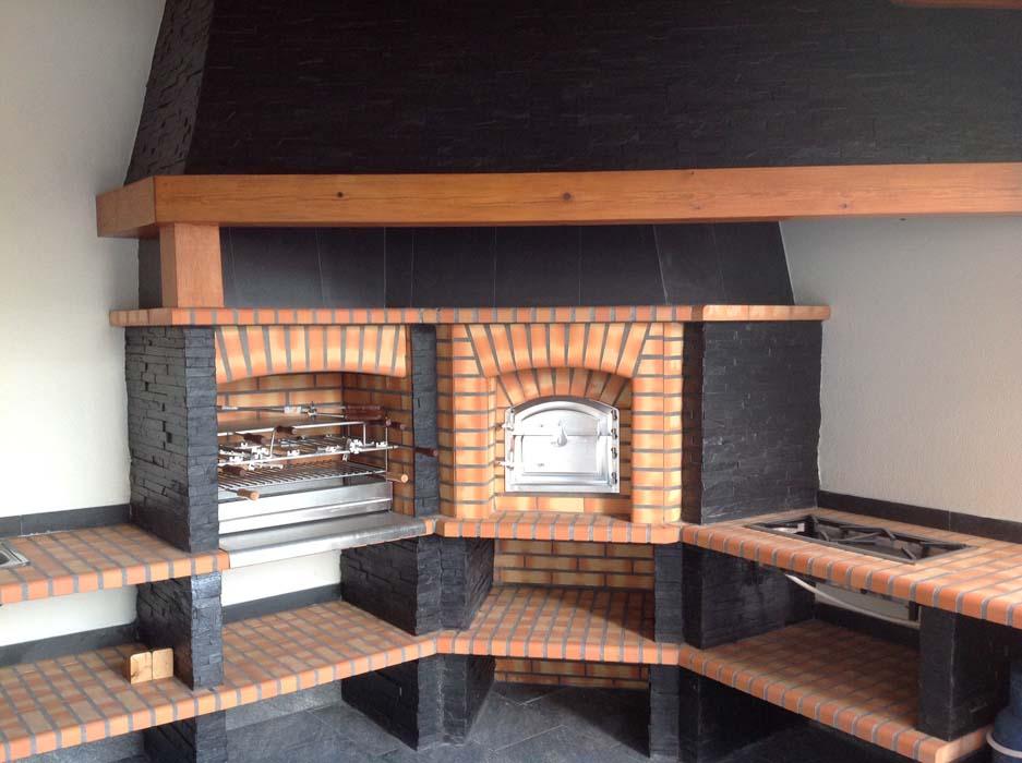 Barbecue in muratura forno a legna bony company sagl